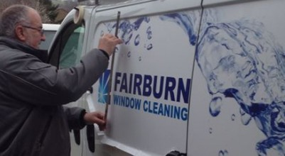 van graphics being applied