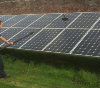 how to clean solar panels uk