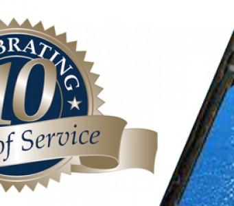 10 year logo
